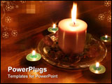 PowerPoint Template - candles on wooden table