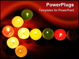 PowerPoint Template - On a photo of a candle as an a pointer. A photo on a dark background. The photo is made in Ukraine.
