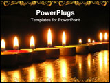 PowerPoint Template - On a photo of a candle as a line. A photo on a dark background. The photo is made in Ukraine.