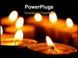 PowerPoint Template - romantic candles showing wellness or zen concept