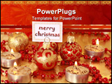 PowerPoint Template - Christmas still life with candles and label for your text