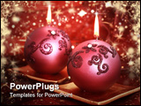 PowerPoint Template - Still life with luxury candles for Christmas