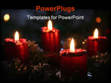 PowerPoint Template - An advent wreath