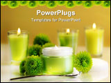 PowerPoint Template - Moisturizing face cream with candles and flowers