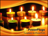 PowerPoint Template - n a photo of a candle as different figures. A photo on a dark background. The photo is made in Ukra
