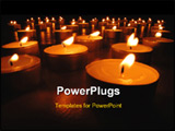 PowerPoint Template - Close up picture of a carpet of many little candles