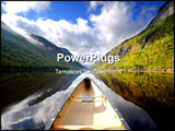 PowerPoint Template - boat on river