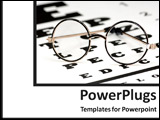 PowerPoint Template - Eyeglasses and a reading chart