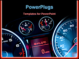 PowerPoint Template - Close up of car dashboard on sports car