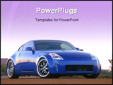 PowerPoint Template - front of a Nissan 350Z