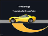 PowerPoint Template - Yellow sports car