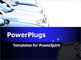 PowerPoint Template - Formation of cars. Ideal template for car presentation for car dealers.