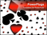 PowerPoint Template - abstract playing card symbols on white background