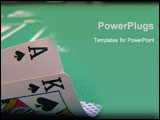 PowerPoint Template - big slick, ace and king of spades