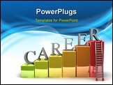PowerPoint Template - A 3d image of career ladder. Isolated on white.