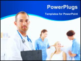PowerPoint Template - Portrait of a surgeon at work