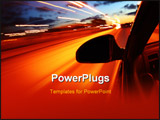 PowerPoint Template - night drive motion blurred transportation abstract background