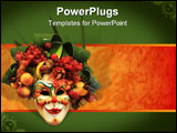 PowerPoint Template - A Beautiful carnival mask composition from venice Italy