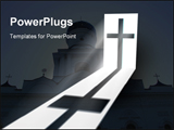 PowerPoint Template - Cross with church background