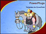 PowerPoint Template - image of cowboy and horse