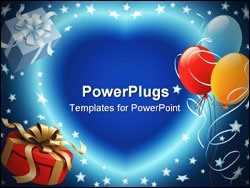 PowerPoint Template - Balloons decoration ready for birthday and party
