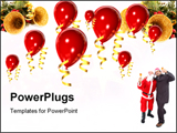 PowerPoint Template - Red balloons and celebration
