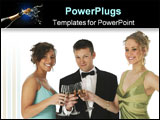 PowerPoint Template - Formal group with champagne.
