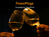 PowerPoint Template - two male hands with two glasses with white wine