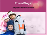 PowerPoint Template - three children are smiling