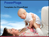 PowerPoint Template - baby with mother