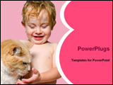 PowerPoint Template - baby with cat
