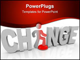 PowerPoint Template - The word Change with a man standing in place of the letter A