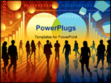 PowerPoint Template - People are going to the changing sign conceptual business illustration.