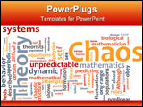 PowerPoint Template - Word cloud concept illustration of chaos theory