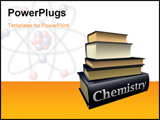 PowerPoint Template - some pile of old Chemistry education books