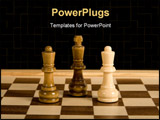PowerPoint Template - Game of chess as concept for business competition and strategy
