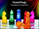 PowerPoint Template - A game of chess comes to an end. The king is checkmated.