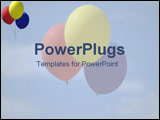 PowerPoint Template - Skyful of balloons