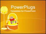 PowerPoint Template - Teddy sitting in Grandma