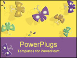 PowerPoint Template - Coloured energetic butterflies