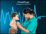 PowerPoint Template - Nurse checking little boy