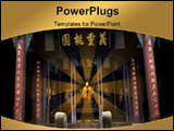 PowerPoint Template - huge Liang Ancient Wuhou Memorial Three Kingdoms Temple Chengdu Sichuan China. This temple was buil