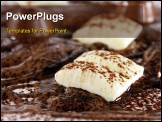 PowerPoint Template - Chocolate bonanza with white chocolate chunks melted chocolate and cocoa.