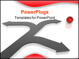 PowerPoint Template - 3D render business concept: The right choice.