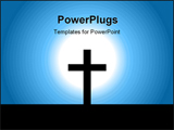 PowerPoint Template - christening cross in light