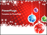 PowerPoint Template - an illustrative image showing christmas background