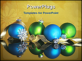 PowerPoint Template - an illustrative image of Christmas balls and ribbons
