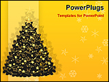 PowerPoint Template - an illustrative image of a decorated christmas tree