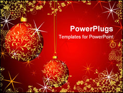 PowerPoint Template - Christmas Background fully editable vector illustration please visit my portfolio for similar images