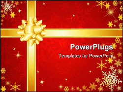 PowerPoint Template - Christmas bow and ribbons. Please check my portfolio for more christmas images.